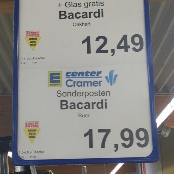 [Edeka] Bacardi 1,5 Liter