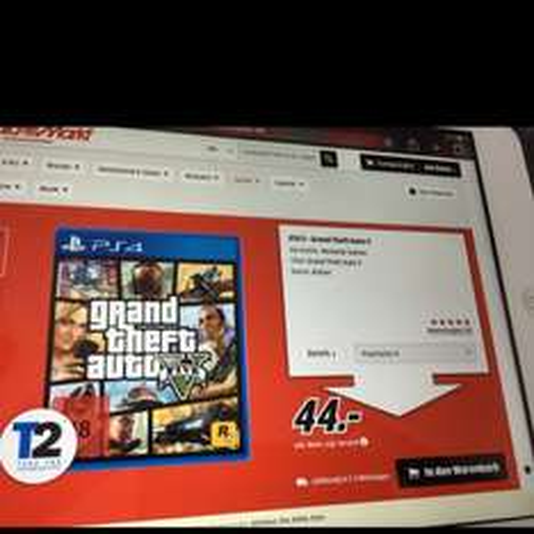 Gta 5 PS4/Xbox One/PC aktuell bei Mediamarkt im Angebot
