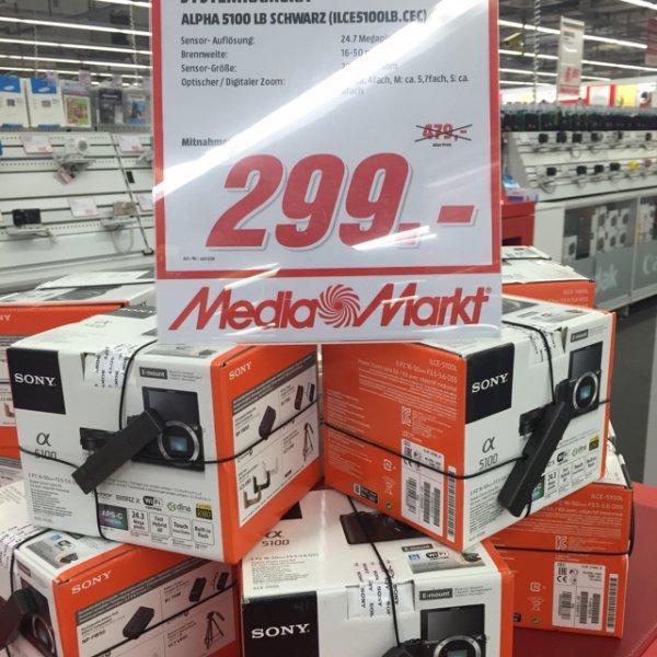LOKAL - Sony Alpha 5100 Kit - 16-50mm für 299€ @Media Markt in Karlsruhe/ Ettlinger Tor Center