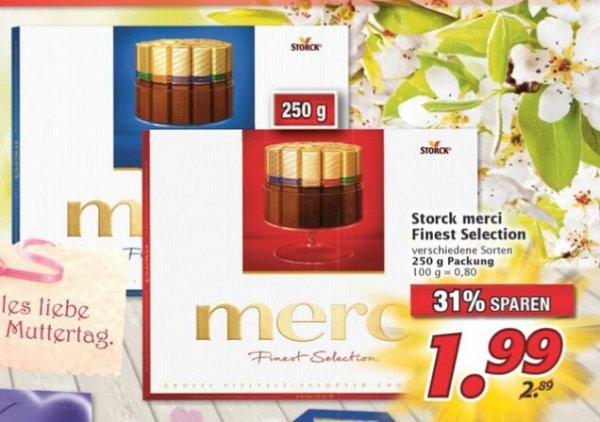 [ Marktkauf Nordbayern / Reebate ] Merci Finest Selection 250g für 0,99 €