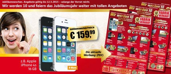 ( lokal - Essen ) MEDION Fabrikverkauf  Apple iPhone 4S, 16GB (B-Ware) für 159,99 €