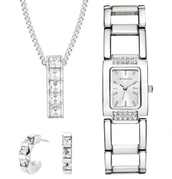 Muttertagsgeschenk!?! Schmuck Set von Fabiani mit Armbanduhr Kette Creole