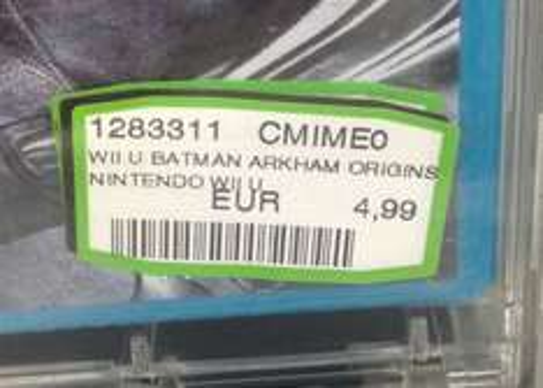 (lokal Grenzgänger) Batman Arkam Origins Wii U  Media Markt Venlo 4,99 Euro
