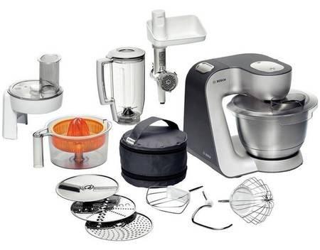 Bosch Styline MUM56340, Küchenmaschine, 900 W, Silber für 209€ @ allyouneed