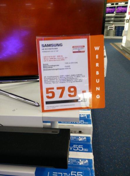[lokal Saturn Berlin] Samsung UE55H6270 für 579€