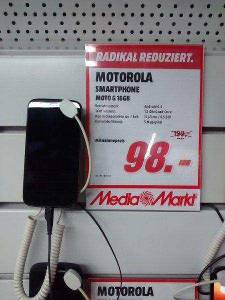(Lokal MediaMarkt Flensburg) Motorola Moto G 16GB (1. Gen) 98€
