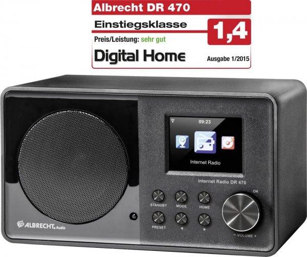 Albrecht DR 470: Internet- und FM-Radio mit DLNA für 81€ @Voelkner.de