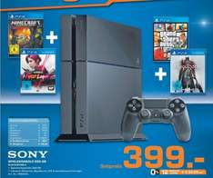 [Lokal Saturn Kerpen] Playstation4 Konsole, + GTA5 + inFAMOUS: First Light  + Minecraft + Bloodborne für 399,-€