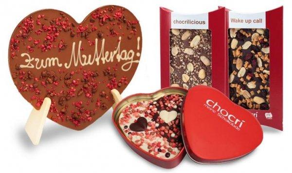 Herz-Schokolade optional mit individuellem Gruß oder Tafeln von chocri ab 5,9€ + 3,9€ VSK (bis zu 51% sparen)