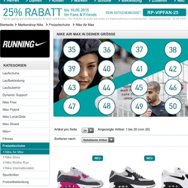 Runnerspoint 25% auf alles