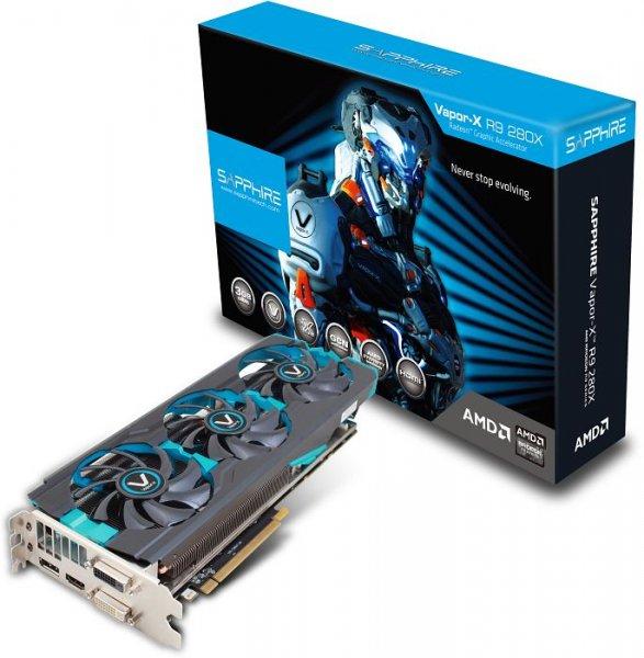 Sapphire Vapor-X Radeon R9 280X Tri-X, 209€, Mindfactory