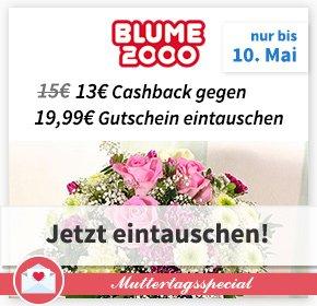 (Qipu) 13€ Cashback =  Auszahlung als 19,99€ Blume2000-Gutschein