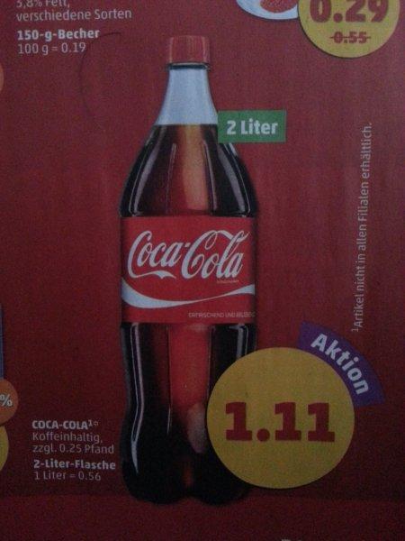 Coca-Cola 2 Liter Flasche für 1.11 € @Penny