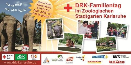 Samstag 09.05.2015 kostenloser Eintritt für Drk, Aok und Cik Mitglieder im Zoo Karlsruhe