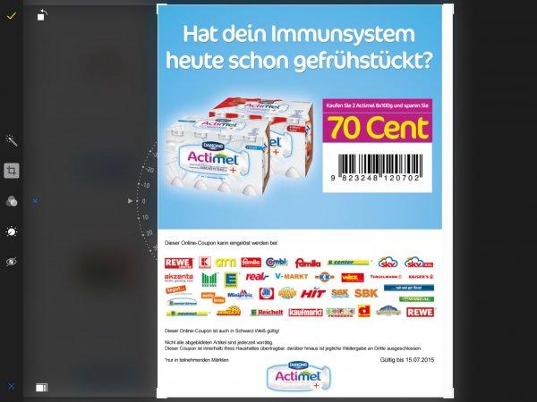 Actimel bei Edeka 2x8 mit Coupon für 3,29€