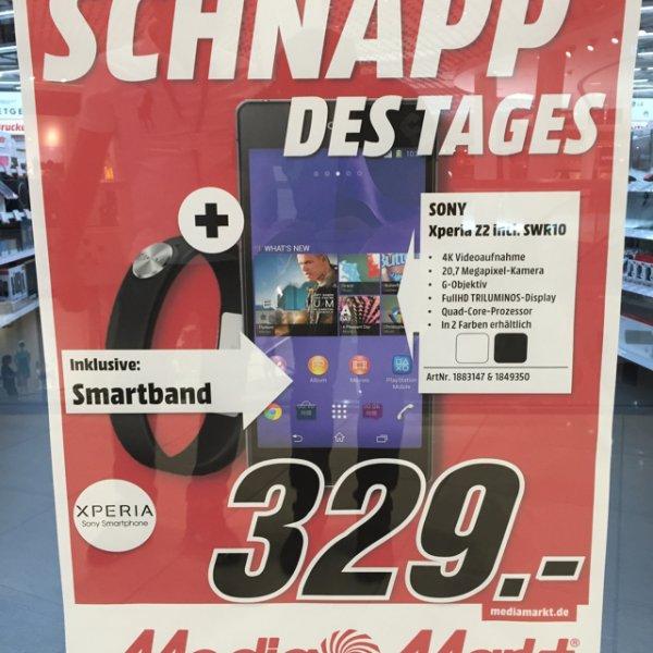 Sony Xperia Z2 + Smartband nur 329 €