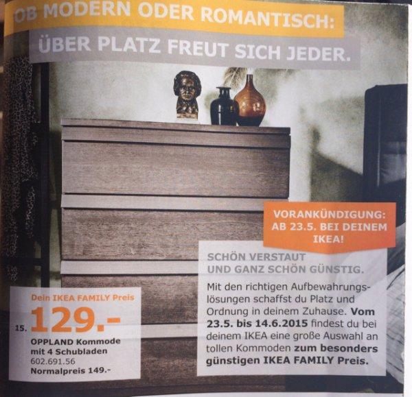 OPPLAND Kommode mit 4 Schubladen ab 23.05 Ikea BUNDESWEIT!!!