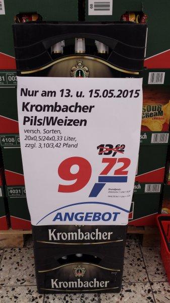 [Lokal Siegen] Real: Krombacher Pils/Weizen für 9,72€ zzgl. Pfand