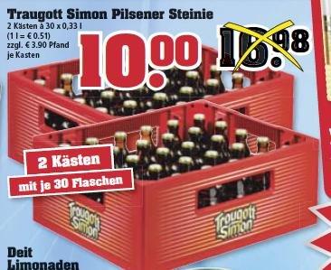Trinkgut Bundesweit! Zwei Kästen à 30 Fl. Traugott Simon für 10€ zzgl. Pfand!