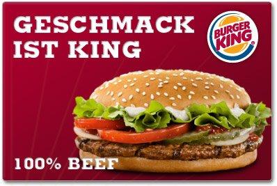 [Burger King] Coupon der Woche - nur bis zum 14.05
