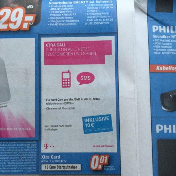 0,01 Euro Lokal? Xtra Call bei Expert Megaland in Rotenburg, Geesthacht, Soltau, mit 10 Euro Guthaben.