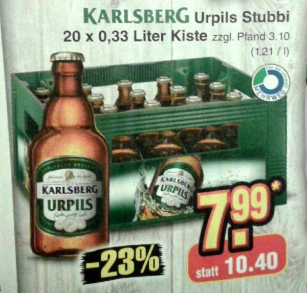 [reebate/Netto MD] KW20: Karlsberg 20x0,33 Liter Kiste Urpils 5,99 Euro