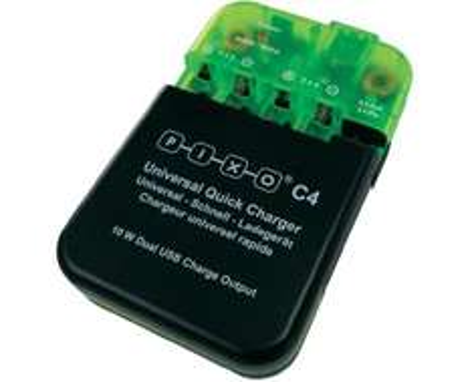 [SMDV] Pixo C4 Ladegerät (NiCd, NiMH, LiIon, LiPo + iPhone / iPad) inkl. 2x USB-Ladefunktion für 29,25€