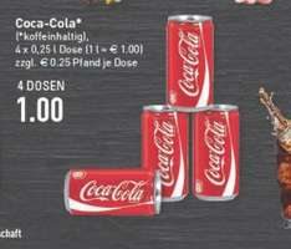 [LOKAL] Coca Cola Dosen, 0.25l für 25 cent LEMGO