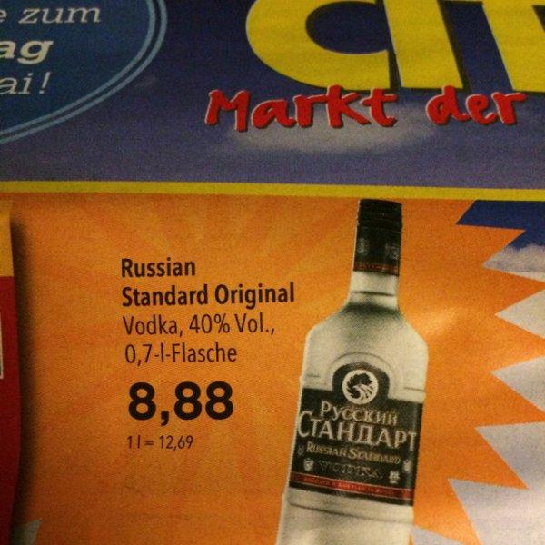 [Lokal] Russian Standard Vodka 8,88€