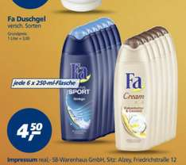 Fa Duschgel 6X250ml [real markt]