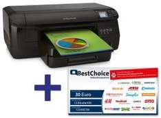 [Office Partner] HP Officejet 8100 Pro (ePrint, Ethernet, 4 separate Tanks) + 30€ Bestchoice-Gutschein + 3 Jahre Garantie für 79€