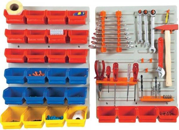 Alutec Wandpaneel-Set Sichtboxen, Werkzeughalter 43-tlg. @ebay 24,99€