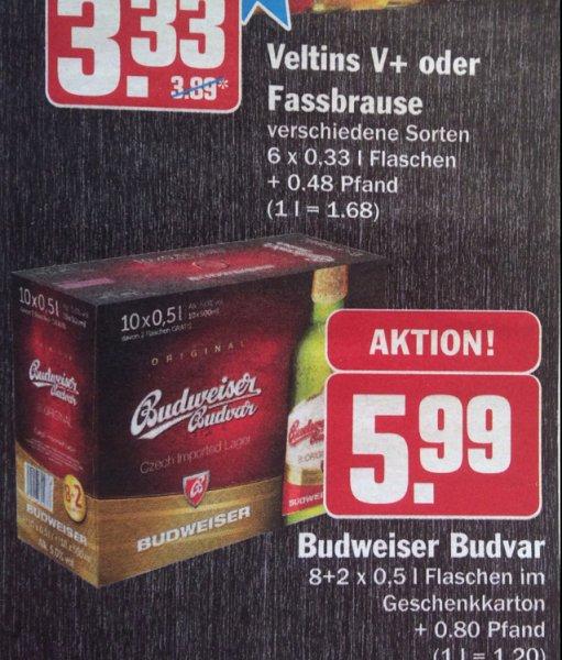 Budweiser Bier bei Hit 10x0,5l für 5,99