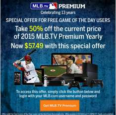 mlb.tv Premium 50% off 57,49$