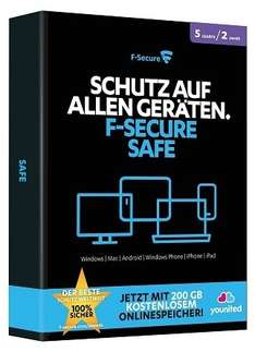 F-SECURE Safe Internet Security 2015 - 2 Jahre/5 Geräte@Amazon