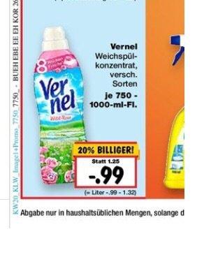 Vernel für 66Cent/Stk bei Mindestabnahme von 3 Flaschen Kaufland nicht Bundesweit in KW20. Henkel Lifetime