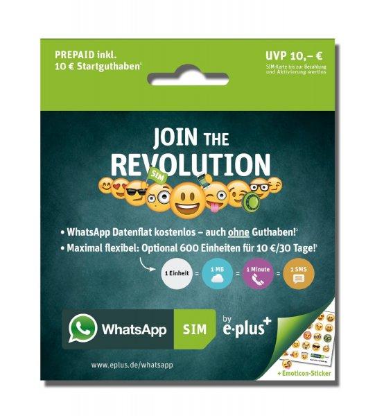 Whatsapp Karte für 10 Euro mit 15 Euro Startguthaben