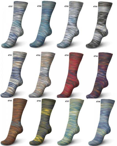 Sockenwolle 100 g Regia 4-fädig color