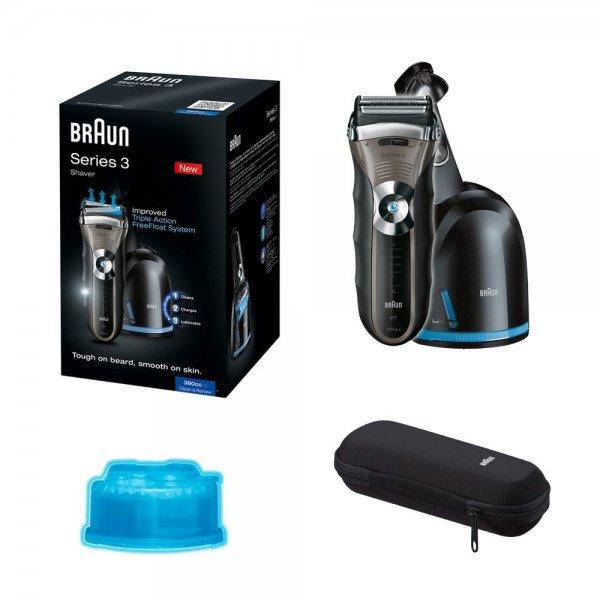 Braun Series 3 390cc- Wet&Dry - 4 Rasierer + Reinigungsstation + Reise-Etui und Reinigungsbürste @Amazon