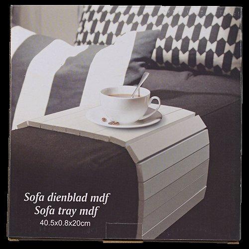 Sofa Tablett aus MDF 40.5x0.8x20cm in schwarz oder weiß für 2.69 @Action lokal