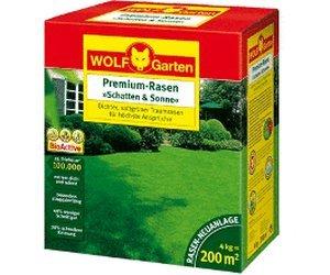 Wolf Garten LP 200 Rasen Saatgut Premium Schatten & Sonne 4 kg für 55€ @ Comtech
