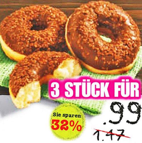 Donuts 3 Stück, verschiedene Sorten für nur 0,99€ bei [Netto MD]