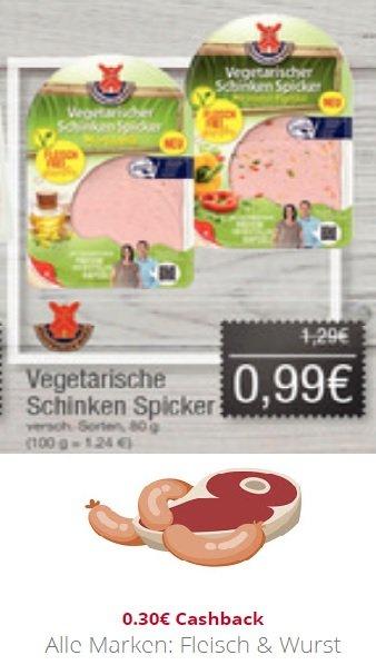 Combi/Jibi/Minipreis - Rügenwalder Mühle Vegetarischer Schinken Spicker für 0,69€