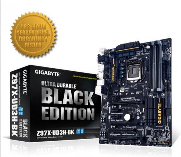 Gigabyte GA-Z97X-UD3H-BK Black Edition - 5 Jahre Garantie - Upgrade-Option (nächste Generation kostenlos im Tausch) - 121,89€ - Hoh.de
