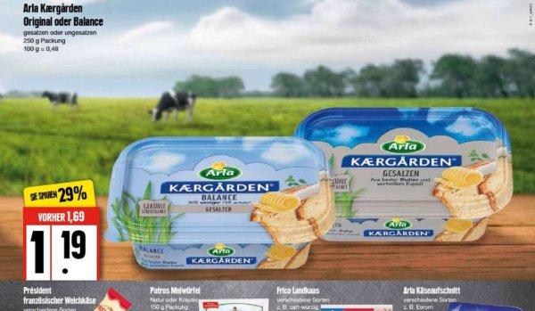 Arla Kaergarden 250g für 69.-Cent Edeka Nord mit Scondoo oder Coupon