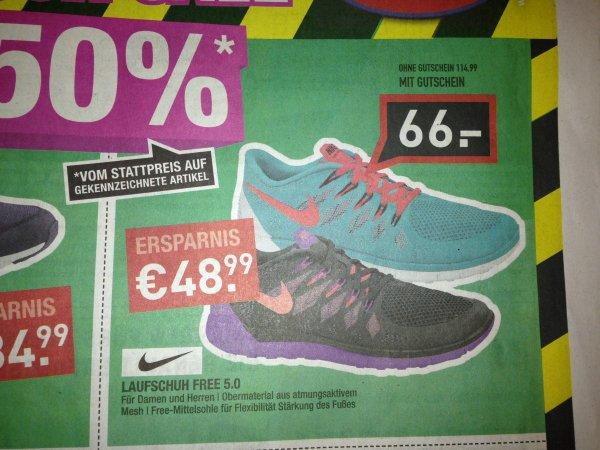 [lokal - Nürnberg] Nike Free 5.0 66€, Nike Air Max 55€