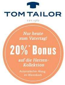 @Tom Tailor - 20% auf die Herrenkollektion + 7% Qipu