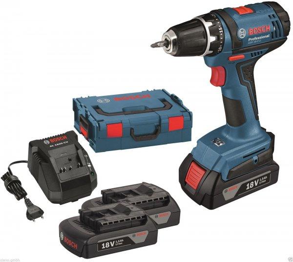 [ebay WOW] - Bosch GSR 18-2-Li, 3x Akku 1,5 Ah, Ladegerät und L-Boxx für 159,90 Euro