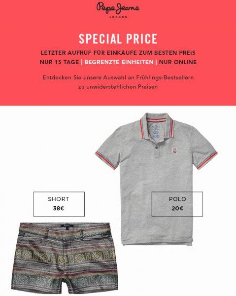 [Nur online] Pepe Poloshirt Gr. XXL - Online Spezial - Nur so lange der Vorrat reicht 20,00 EUR - Versankostenfrei