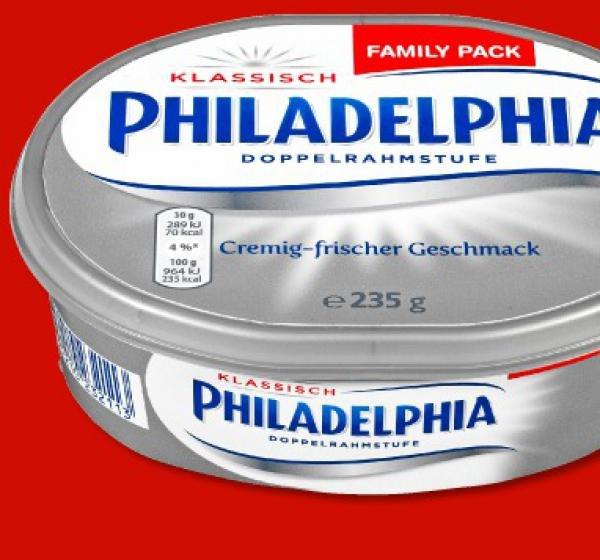 [Penny - bundesweit] PHILADELPHIA Käse,  Familienpackung (vom 15.05. - 16.05.15)